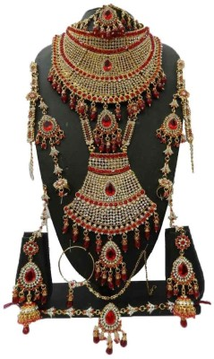Shree Bhawani Art Jewellery Zinc Jewel Set(Red)