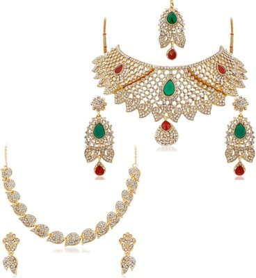 Reeva Fashion Jewellery Alloy, Alloy Jewel Set(Multicolor)