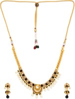 Golden Peacock Alloy Jewel Set(Black) best price on Flipkart @ Rs. 1599