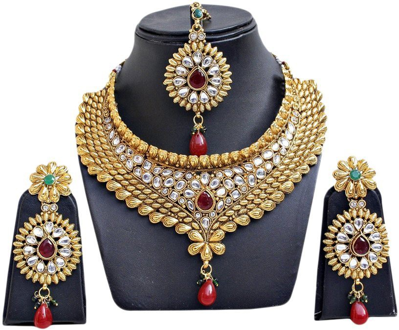 e9dd1ce6c46 Womens Trendz Chandramukhi Crystal Yellow Gold Plated Alloy Necklace. 44%  Off. ₹845 ₹475. Flipkart Get OFFER · Jewels Guru Alloy Jewel Set(Maroon
