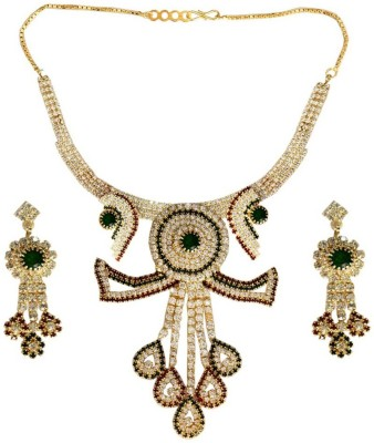 Being Women Alloy Jewel Set(Brown, Green) at flipkart