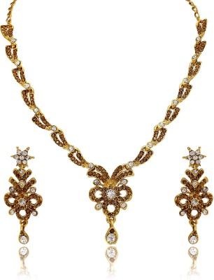 Atasi International Alloy Jewel Set(Brown)