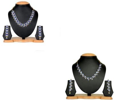 Rashi Jewellery Alloy Jewel Set(Blue)
