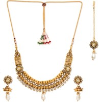 Golden Peacock Alloy Jewel Set(White) best price on Flipkart @ Rs. 2499