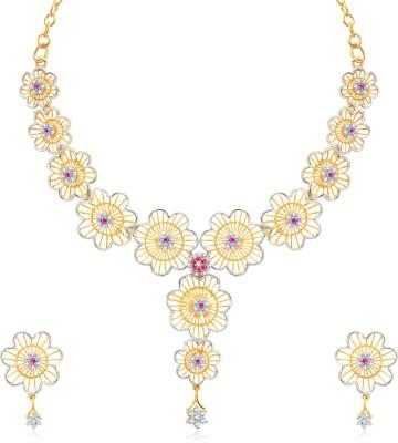 VK Jewels Alloy Jewel Set(Gold, Silver)