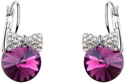 Silver Shoppee Spread The Love Crystal, Cubic Zirconia Metal Drop Earring