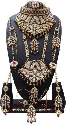 Shree Bhawani Art Jewellery Zinc Jewel Set(Maroon, Green)