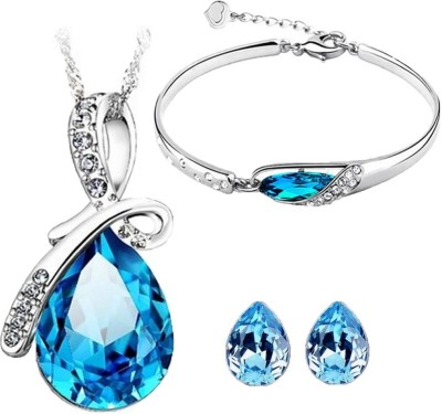 Cyan Alloy Jewel Set