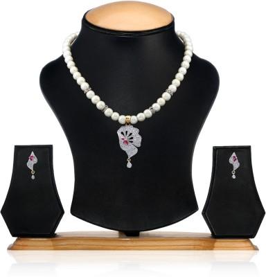 Swan Fashion Jewellery Brass Jewel Set(White)