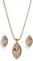 Golden Peacock Alloy Jewel Set(Gold) best price on Flipkart @ Rs. 899