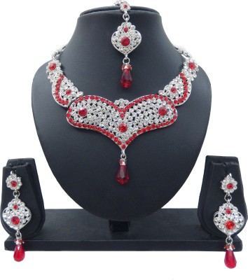 Shree Bhawani Art Jewellery Alloy Jewel Set(Red)