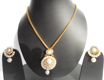 Neelam Fashions And Accessories Alloy Jewel Set(White)