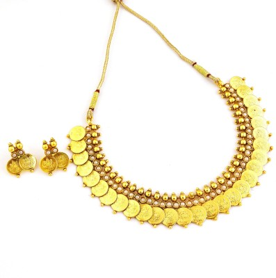 YouBella Alloy Jewel Set(Gold) at flipkart