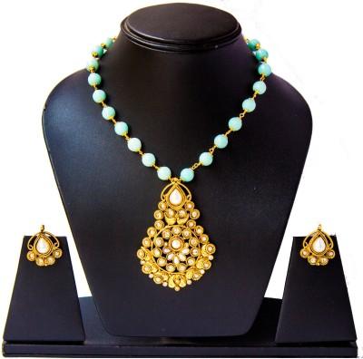 Tandra,s Fashion Jewellery Alloy Jewel Set(White, Gold, Blue)