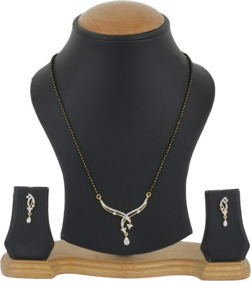Bling N Beads Metal, Silver Jewel Set