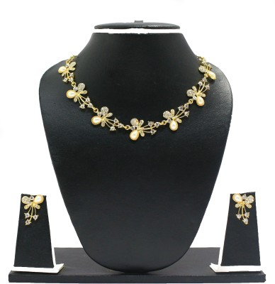 Zaveri Pearls Zinc Jewel Set(Gold) at flipkart
