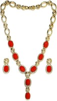 Golden Peacock Alloy Jewel Set(Red) best price on Flipkart @ Rs. 1799