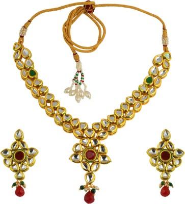 K.R.S. Jewels Alloy Jewel Set(Gold) at flipkart