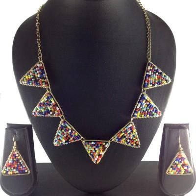 Shiv Kutumb Glass Jewel Set
