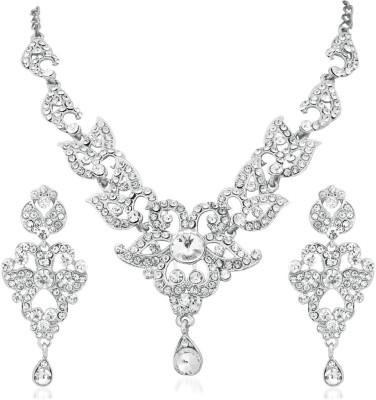 Reeva Fashion Jewellery Zinc Jewel Set(Silver)