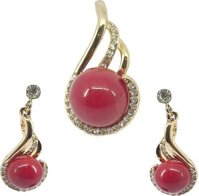 Saloni Fashion Jewellery Copper Jewel Set(Maroon)