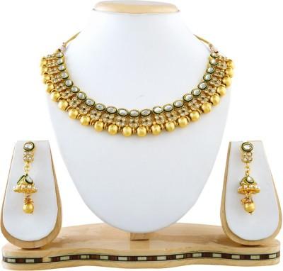 Reeva Fashion Jewellery Alloy Jewel Set(Gold)