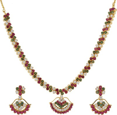 Chaahat Fashion Jewellery Copper Jewel Set(Multicolor)