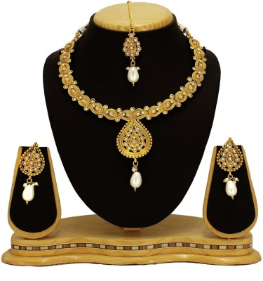 Satyam Jewellery Nx Copper Jewel Set(Gold)