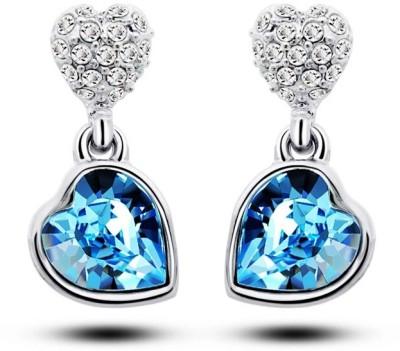 University Trendz Univ_E087 Crystal Alloy Drop Earring