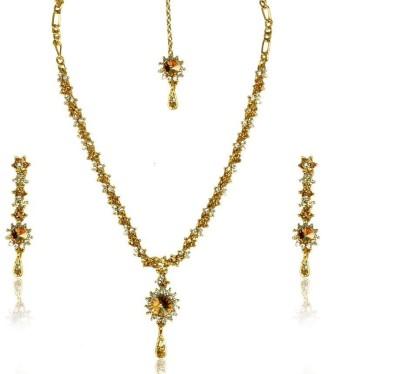 Rashi Jewellery Zinc Jewel Set(Gold, White)