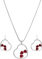 Golden Peacock Alloy Jewel Set(Maroon) best price on Flipkart @ Rs. 799