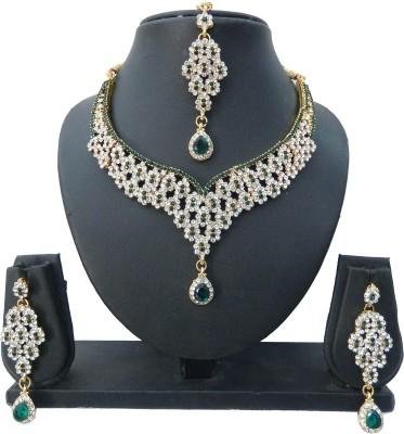 Shree Bhawani Art Jewellery Alloy Jewel Set(Green)