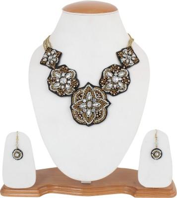 Glam Accessories Fabric Jewel Set(Bronze)