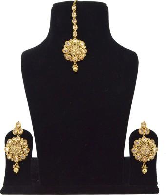 Saloni Fashion Jewellery Brass Jewel Set(Gold)