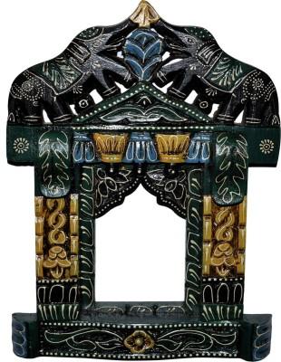 Lal Haveli Elephant Design Wall Showpiece Photo Frame Decorative Wooden Jharokha