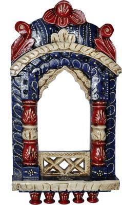 Lal Haveli Ethnic Wall Showpiece Photo Frame Decorative Wooden Jharokha