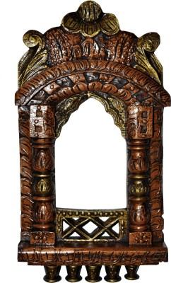 Lal Haveli Rajasthani Home Decor Wall Showpiece Photo Frame Wooden Jharokha