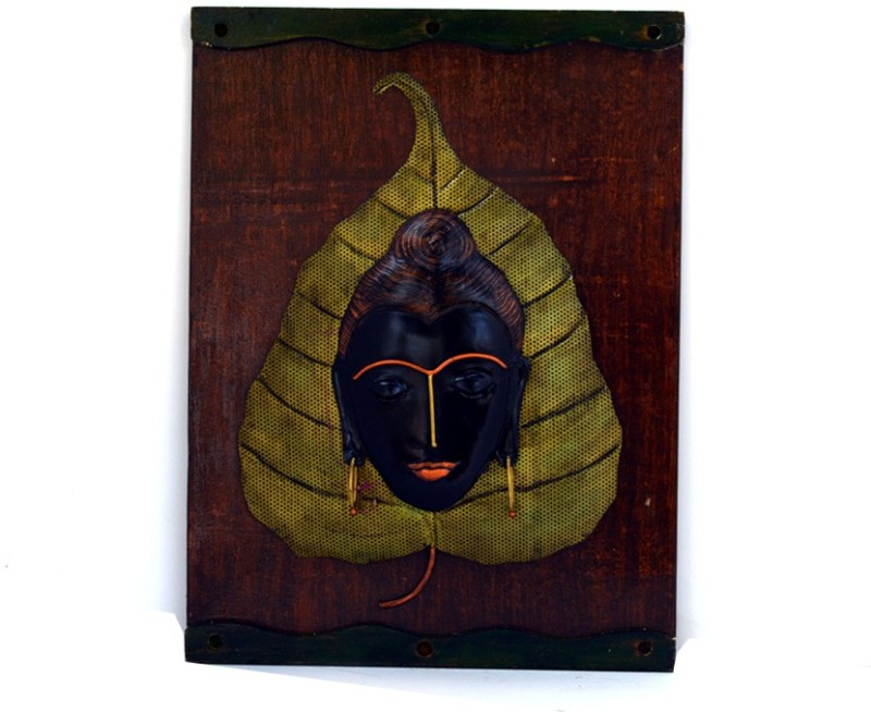 Sabras Industries Buddha Iron, Wooden Jharokha(40 cm x 30 cm Handcrafted)
