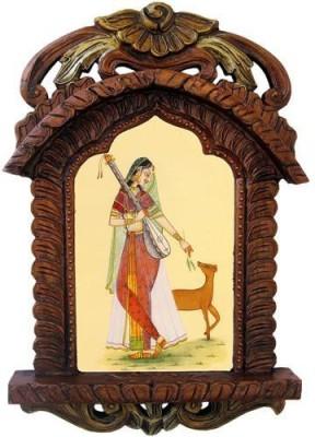 Pinkcity Handicraft Wooden Jharokha(48 cm x 28 cm Handcrafted)
