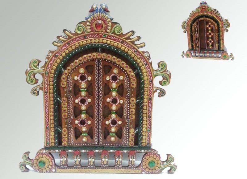 Kalavidhi Wooden Jharokha(45 cm x 40 cm Handcrafted)