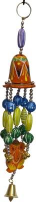 swadesibuyzzar Door Chain with Ganesh Idol Figure Brass, Wooden Jharokha