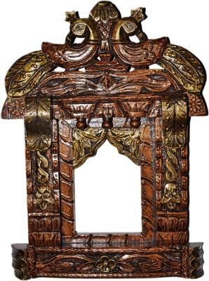 Lal Haveli Decorative Peacock Design Wall Showpiece Photo Frame Wooden Jharokha
