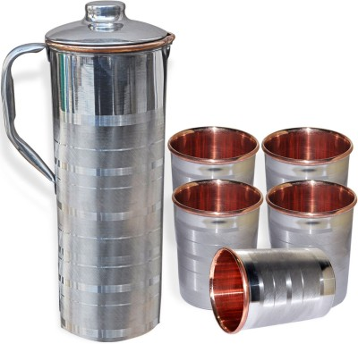 DakshCraft AB1242 Jug Glass Set(Copper) at flipkart