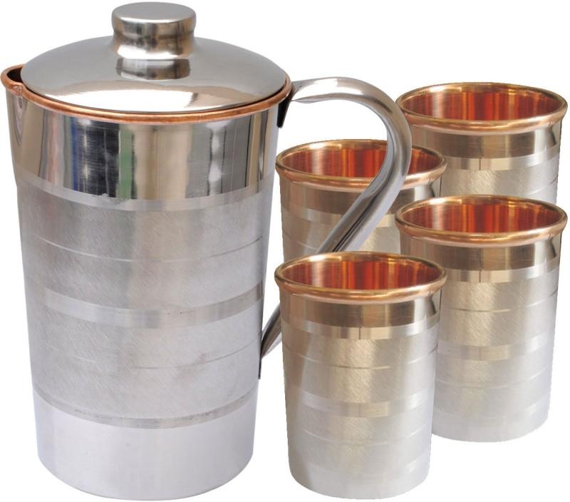 Dakshcraft DSCJ005-DSCGL001-4 Jug Glass Set(Copper)