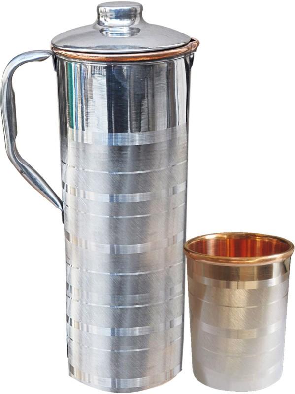 Dakshcraft DSCJ006-DSCGL001-1 Jug Glass Set(Copper)