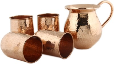 Kalpaveda Copper glass Jug Glass Set