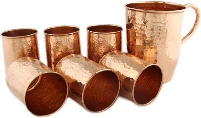 Kalpaveda Jug & Glass Set Jug Glass Set(Copper)