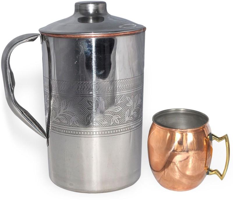 Dakshcraft DS019 Jug Glass Set(Copper, Stainless Steel)