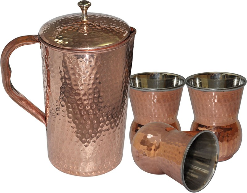 Dakshcraft AB1247 Jug Glass Set(Copper)