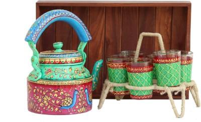 eCraftIndia AKW4GK114_1 Jug Glass Tray Set
